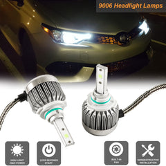 9006 9012 HB4 Xenon White 6000K LED DRL Headlight Conversion Kit For High/Low Beam