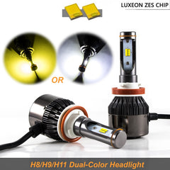 H11 H9 H8 36000LM White and Yellow JDM Look LED Fog Driving Light Lamp Kit For Acura Honda Nissan Ford