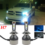 2x H7 Dual Color White Ice Blue LED Headlight Bulbs for VW Jetta Mercedes-Benz E400 E250 E350
