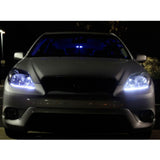Xotic Tech 9006 HB4 Dual color White Ice Blue LED High Low Beam Light Headlight
