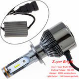 H7 36000LM White LED Bulbs Low Beam Headlight Conversion Kit for BMW Hyundai Genesis Coupe