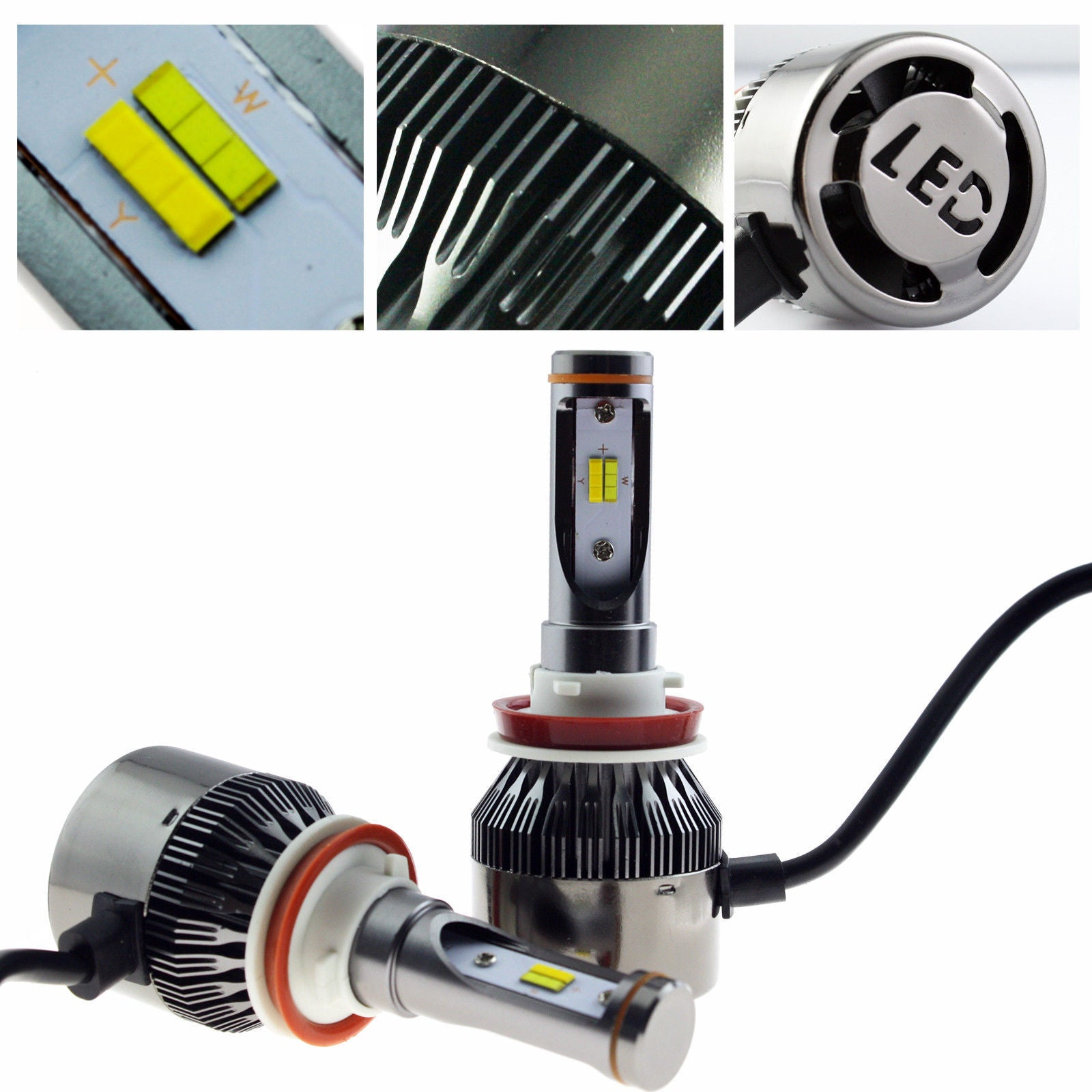 Ice Blue Gold Yellow Dual Color H11 H9 H8 Fog Light High Low Beam Headlamp Ampamp Foglamp 3s Headlight Kit
