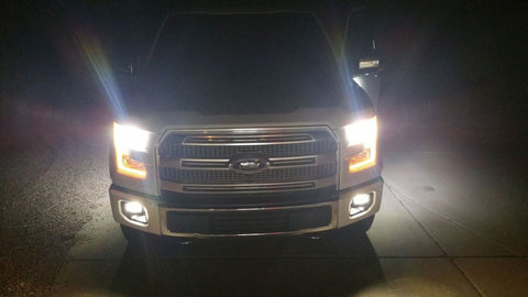 H10 9140 9145 White 6000K COB LED Headlight Daytime Running Lights Fog Light Lamps fit Ford F150 F250 F350 F450