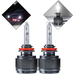 2018 New H11 HID Headlight Kit 6000K Xenon White Hi/Lo Beam Direct Fit Light