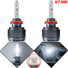 H7 HID 6000K - 7000K Xenon White LED Bulbs For Headlight Halogen Lamps