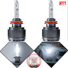 NEW H11 HID Headlight Bulbs Super Bright 6000K White Direct Fit Lamps For Honda Civic Accord 08+