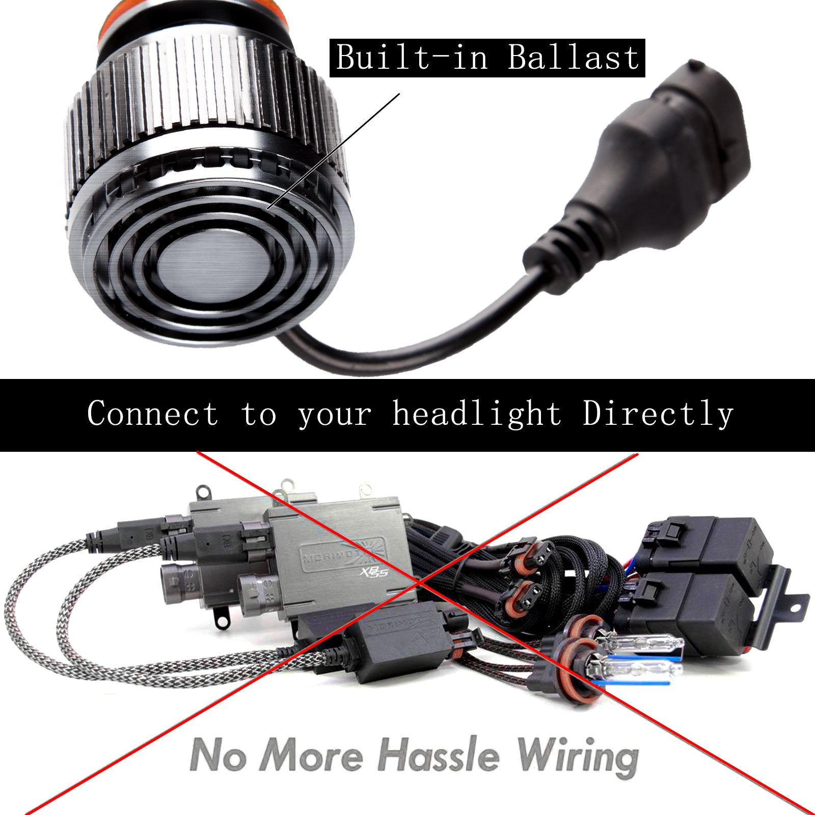 H7 Hid 6000k 7000k Xenon White Led Bulbs For Headlight Halogen Wiring A Lamp Lamps
