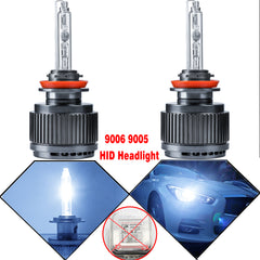 9006 9005 HID Bulbs Bright Cool Blue 8000K Perfect Fit Halogen Headlight Lamps