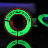 1x Luminous Ignition Switch Cover Key Hole Ring Sticker Audi A4 S3 VW Golf Jetta