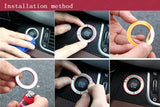 Light Glow Luminous Ignition Switch Key Starter Hole Ring For Toyota RAV4 2013 14 15