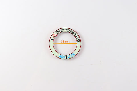 Luminous Ignition Engine Start Stop Button Cover Sticker Universal Fit 31mm