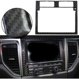 Real Carbon Fiber Cover Trim Stickers for Porsche Macan 2015-2017[GPS Navigator Dashboard Multimedia Center Control Panel/ Front Water Cup Holder Panel / Reading Light Panel]