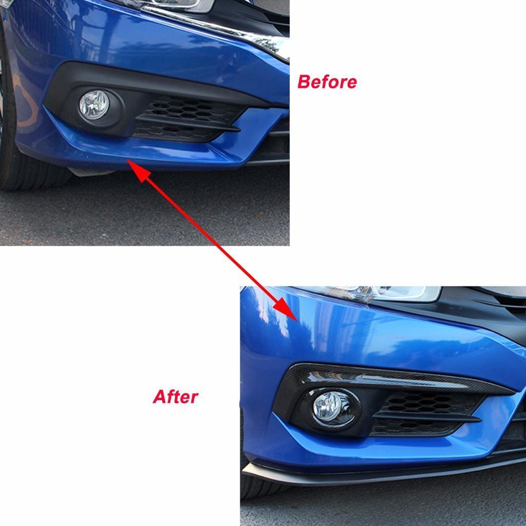 Honda Civic 2016 2019 Factory Speaker Upgrade Package: Carbon Fiber Pattern Cover Trim Sticker Decoration For