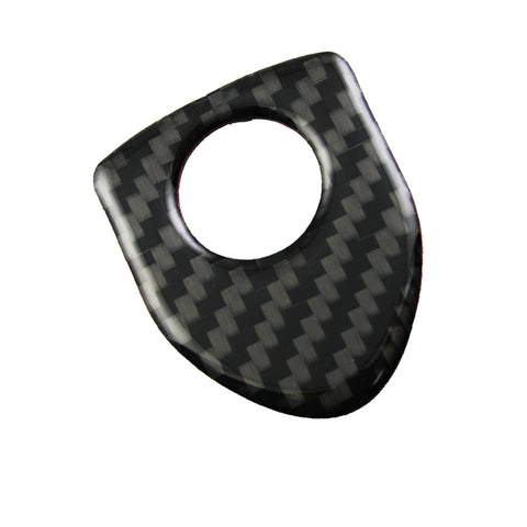 4X Shield Style Carbon Fiber Door Lock Pin Knob Decor Stickers For BMW 1 3 5 7 Series X3 X5 X6