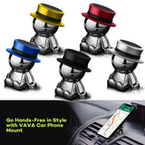 Magnetic Car Mount 360° Rotation GPS Phone Tablet Holder Stick On Dashboard Hat man For iPhone X 7 8 Plus Galaxy Note and More Device