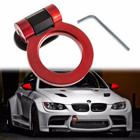 Universal Sports JDM Track Racing Style Tow Hook Ring For Audi BMW Cadillac Chevrolet Chrysler etc[Red\ Silver\ Gold\ Purple\ Black\ Blue]