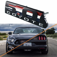 1 Set Black 5.0 COYOTE Grill Fender Emblem Badge Trunk Ford Mustang BOSS 302