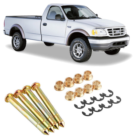 Car Heavy Duty Door Hinge Pins Pin Bushing Kit for Ford F-150 F-250 F-350 Bronco