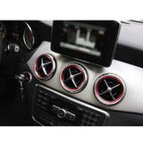 Red Aluminum Air Condition Vent Decoration Cover Trims For Benz CLA GLA Class