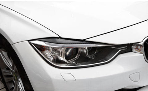 Carbon Fiber Headlight Eyebrows Eye Lid Sticker For BMW 3 Series F30 2013-2017