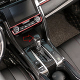 Carbon Fiber Style Gear Shift Knob Trim Decoration Cover for Honda Civic 2020 2019 2018 2017 2016 - Automatic Transmission