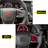 Red Interior Steering Wheel Frame Trims Wheel Button Decoration Cover for Honda Civic 10th Gen 2016 2017 2018 2019 2020