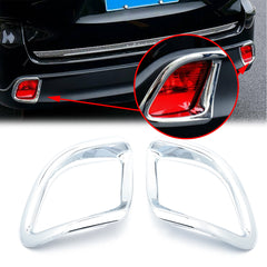Chrome Rear Bumper Reflector Fog Light Lamp Frame Bezel Molding Cover Trims For Toyota Highlander 2014 2015 2016 2017 2018 2019