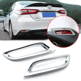 Chrome Rear Tail Fog Light Lamp Cover Molding Trim Reflector Bumper Frame Bezel Overlay for Toyota Camry L LE XLE 2018 2019 2020
