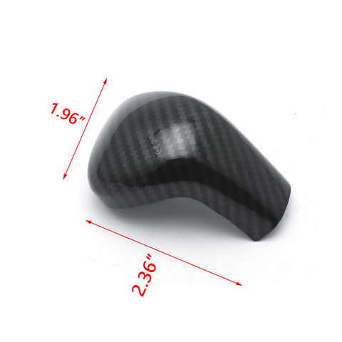 Carbon Fiber Pattern Inner Auto Gear Shift Knob Cover Trim Decoration For Toyota Camry 2018 2019 2020