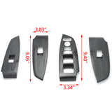 Carbon Fiber ABS Window Switch Decoration Decal Frame Cover Panel Trim Door Handle Armrest Trim 4PCS For Honda Accord 2018 2019 2020