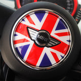 Red Blue Union Jack UK Flag 3D Steering Wheel Decal Sticker For 2014 2015 2016 MINI Cooper F54 F55 F56 2017 F60