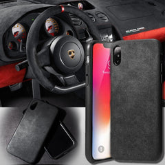 Luxury Super Slim Leather Alcantara Suede Durable Protective Cover Case for iPhone X / 7 / 8 / 7 plus / 8 plus/ Xs/ Xs MAX/ XR (2017 2018)