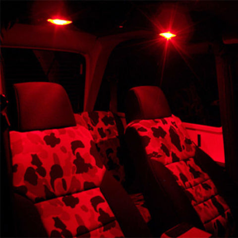 2x Red Back Up Dome Map Side marker Parking Led Projector Lights T10 194 168