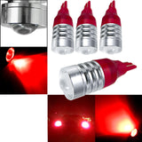 4x 921 912 T10 Projector Lens Red LED Bulbs for Backup Reverse Lights High Power