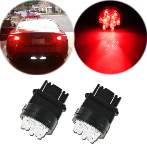 2x High Power Red 3156 3157 12 SMD LED Bulbs for Reverse Backup Lights Lamps