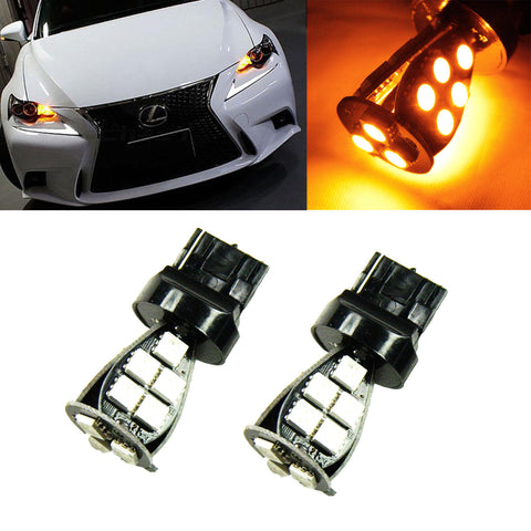 2x Amber 7440 3535 High Power LED Bulbs for Front Rear Turn Signal Lights