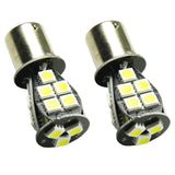 2x 1156 21-SMD Error Free Amber Replacement LED Front Turn Signal Lights Lamps
