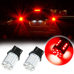 2X Red 7440 7443 24-SMD LED Bulbs for Tail Backup Lights Lamps 7444 T20 992