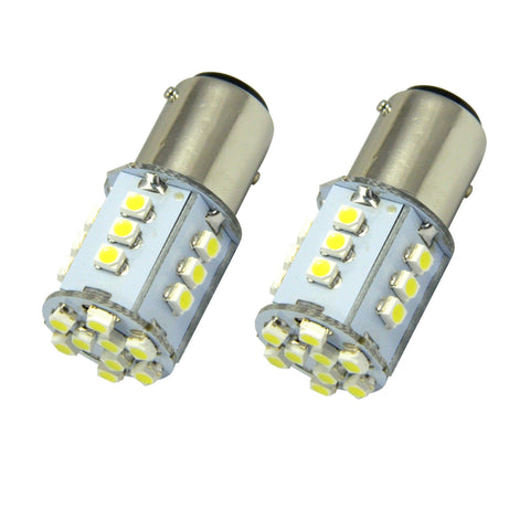 2x High Power 24-SMD White\ Red\ Amber 1157 BAY15D LED Turn Signal Parking Lights Lamp
