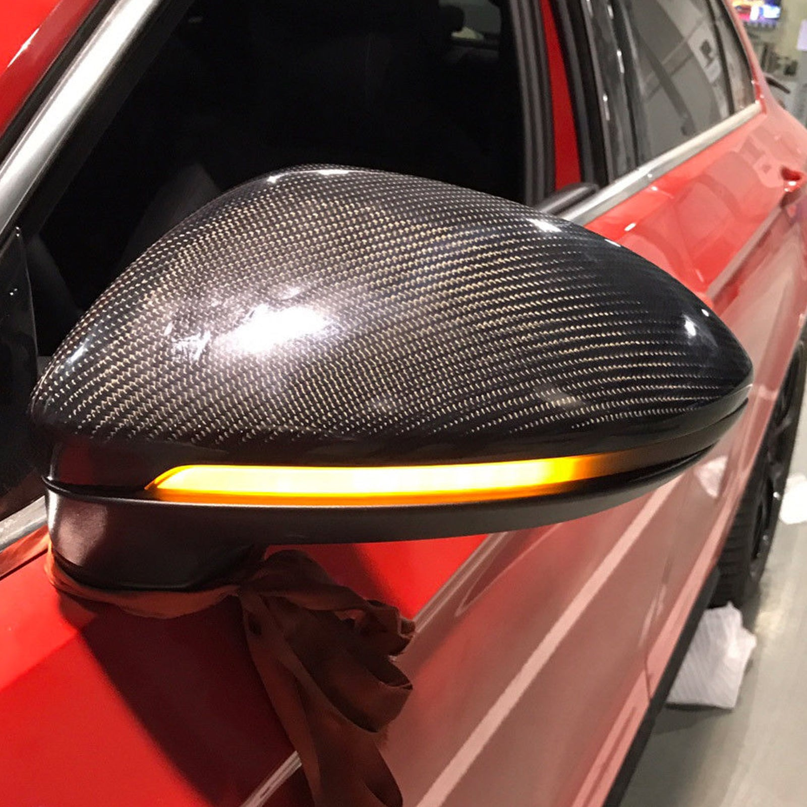 Smoked Side Mirror Led Sequential Blink Turn Signal Lights