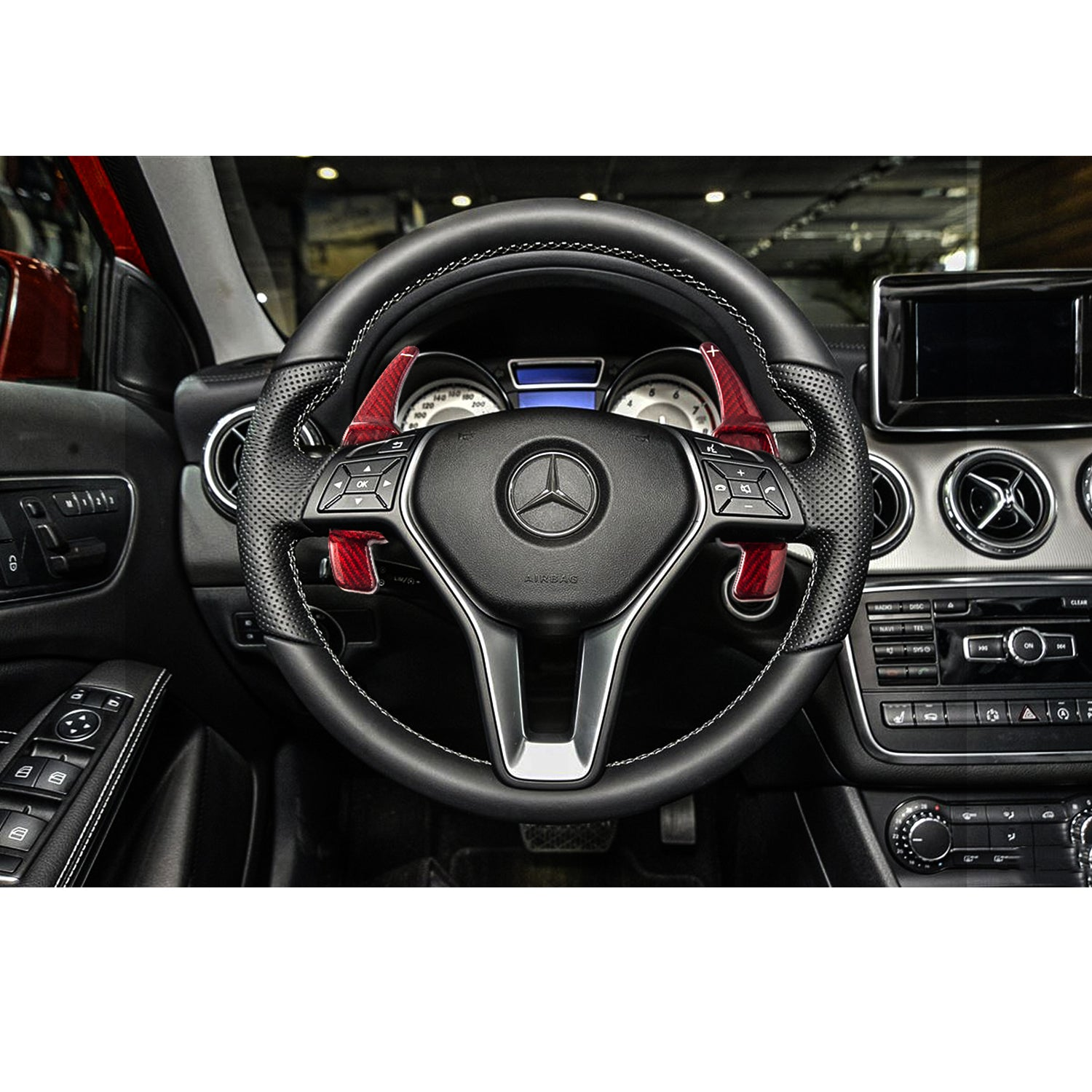 1 Set Pure Real Carbon Fiber Steering Wheel Gear Paddle