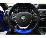 Real Carbon Fiber Steering Wheel Shifter Paddle Extensions BMW 3 5 Series F30 F10 2012 - 2016