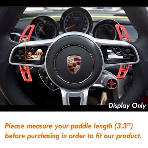 Paddle Shifter Extensions PDK For 2016-17 Porsche Cayenne Macan Panamera Boxster GT3 911[Carbon Fiber/Red Aluminum ]