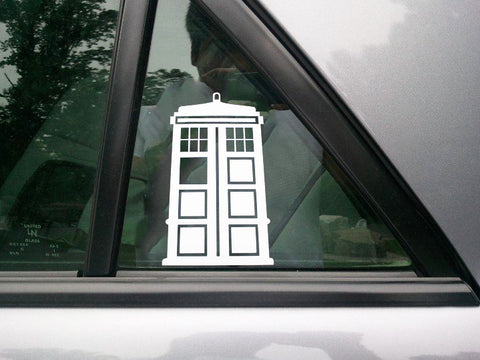 3pcs Dr. Who Tardis Whovian Police Box Die Cut Stickers For Car Truck Window Cool Decal Reflective Vinyl