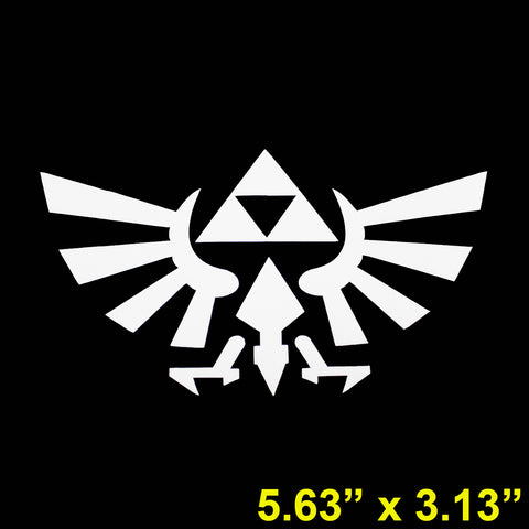 "3pcs Triforce Logo Wings by Legend of Zelda 6"" Die Cut Stickers For Drift Car Truck Window Cool Decal Reflective Vinyl"