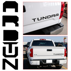 Reflective Red Tundra Decal Trunk Tailgate Insert Vinyl Sticker For Toyota 2014+
