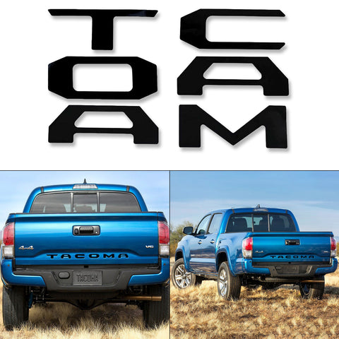 Matte Black \ Glossy Black \ Brushed Gold \ Brushed Silver\ Glossy Red Vinyl Insert Letters Decal Sticker For Toyota Tacoma 2016-2018 Rear Tailgate