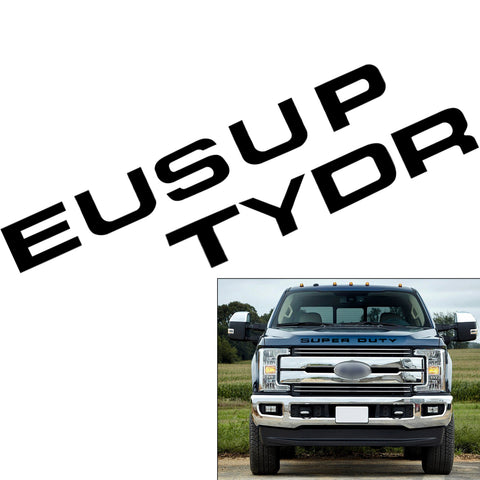 Brushed Gold \ Brushed Silver \ Matte Black \ Glossy Black \ Glossy Red Thin Vinyl Super Duty Letters Decal Stickers For Ford F-250 F-350 F-450 F-550 2008-2016 Front Grille Hood