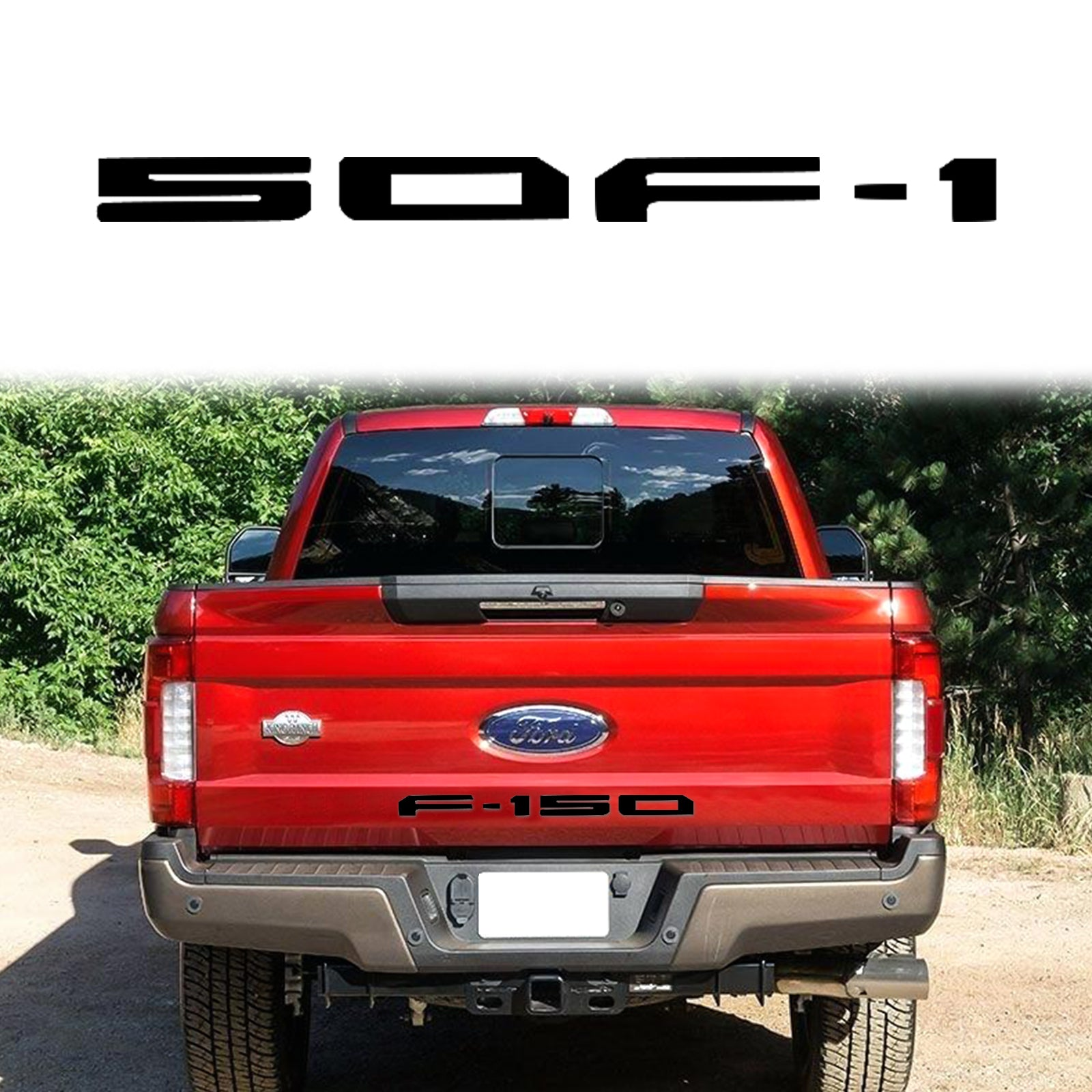 Xotic Tech F-150 Letter Decal Tailgate Die-Cut Insert Vinyl Sticker for Ford F-150 2018-up Brushed Silver