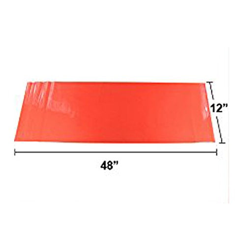 "12"" x 48"" Glossy Red Vinyl Sheet Wrap Overlay Film For Tail Lights, Sidemarkers, Fog Lights"